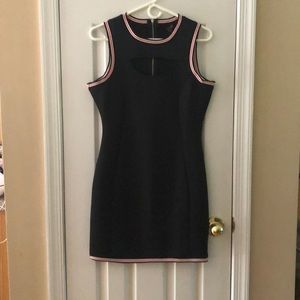GUESS Navy dress with cut out chest